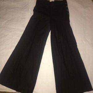 Elevenses Wide Leg Brown Linen Blend  Pant  SZ 2